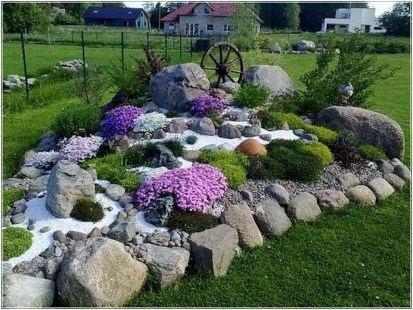 Cool Front Yard Rock Garden Ideas43