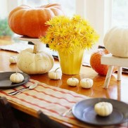 Lovely White And Orange Pumpkin Centerpieces For Fall And Halloween Table20