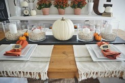 Lovely White And Orange Pumpkin Centerpieces For Fall And Halloween Table28