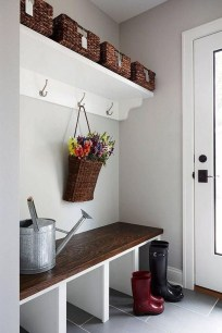 Beautiful Farmhouse Mudroom Remodel Ideas26