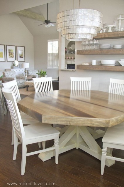 Affordable Farmhouse Dining Room Design Ideas25