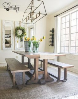 Affordable Farmhouse Dining Room Design Ideas30
