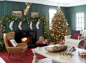 Awesome Vintage Christmas Living Room Decoration Ideas08