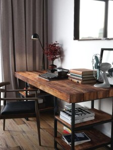 Comfy Home Office Design Ideas For Small Apartment19