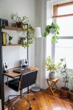 Comfy Home Office Design Ideas For Small Apartment24