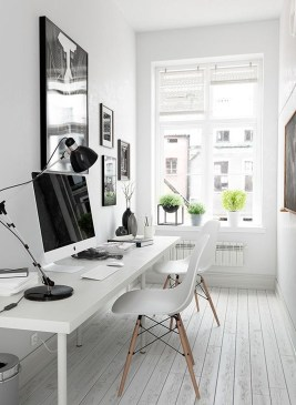 Comfy Home Office Design Ideas For Small Apartment35