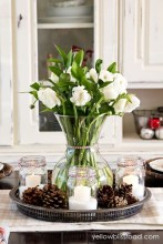 Cute Vintage Winter Table Decoration Ideas10