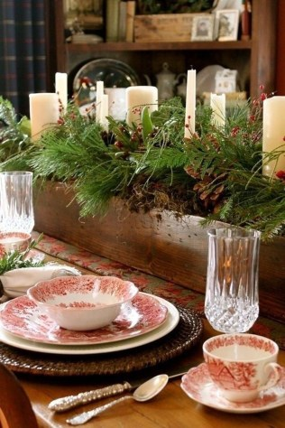 Cute Vintage Winter Table Decoration Ideas25