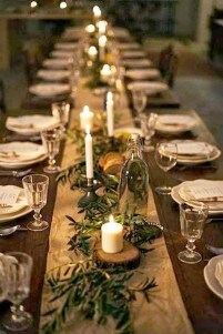 Cute Vintage Winter Table Decoration Ideas33