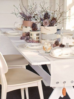 Cute Vintage Winter Table Decoration Ideas38