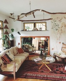 Impressive Bohemian Farmhouse Decorating Ideas For Your Living Room10