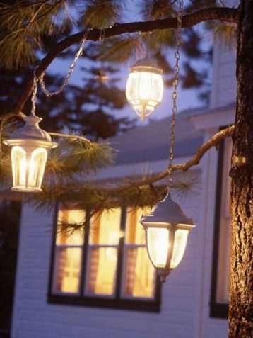 Vintage Outdoor Winter Lights Decoration Ideas32