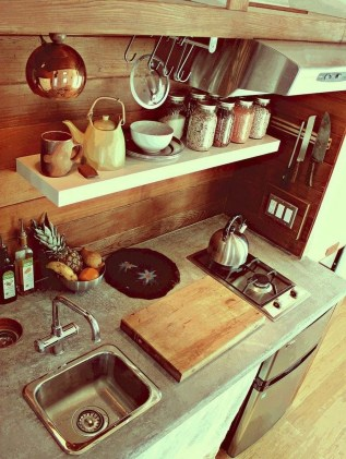 Lovely Tiny House Kitchen Storage Ideas27