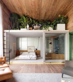 Unique Loft Bedroom Design Ideas37