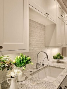 Captivating White Cabinets Design Ideas For Kitchen13