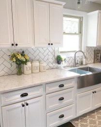 Captivating White Cabinets Design Ideas For Kitchen22