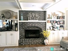 Modern Brick Fireplace Decorations Ideas For Living Room02