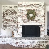 Modern Brick Fireplace Decorations Ideas For Living Room16