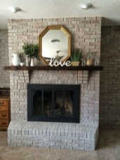 Modern Brick Fireplace Decorations Ideas For Living Room26