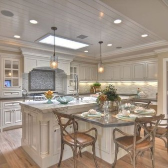 Stunning Kitchen Island Ideas With Seating24