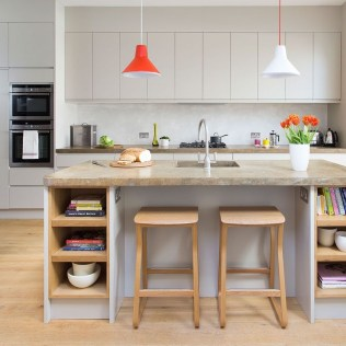 Stunning Kitchen Island Ideas With Seating34