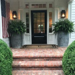 Adorable Porch Planter Ideas That Will Give A Unique Look35