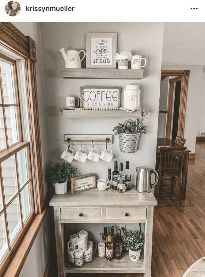 Latest Diy Coffee Station Ideas In Your Kitchen37
