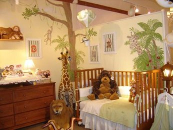 Charming Kids Bedroom Ideas With Jungle Theme To Try36