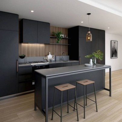 Elegant Black Kitchen Design Ideas You Need To Try06
