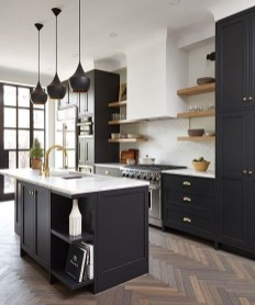 Elegant Black Kitchen Design Ideas You Need To Try29