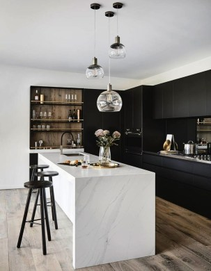 Elegant Black Kitchen Design Ideas You Need To Try34