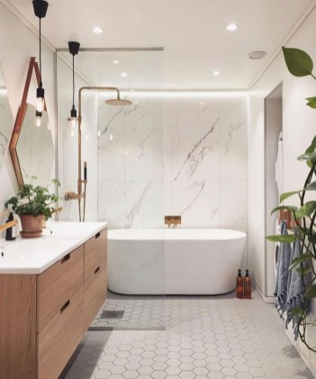 Latest Bathroom Decor Ideas That Match With Your Home Design38