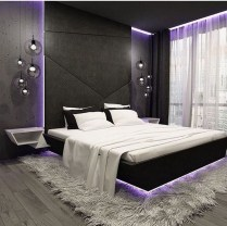Casual Contemporary Floating Bed Design Ideas For You08