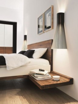 Casual Contemporary Floating Bed Design Ideas For You31