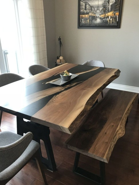 Classy Resin Wood Table Ideas For Your Furniture03