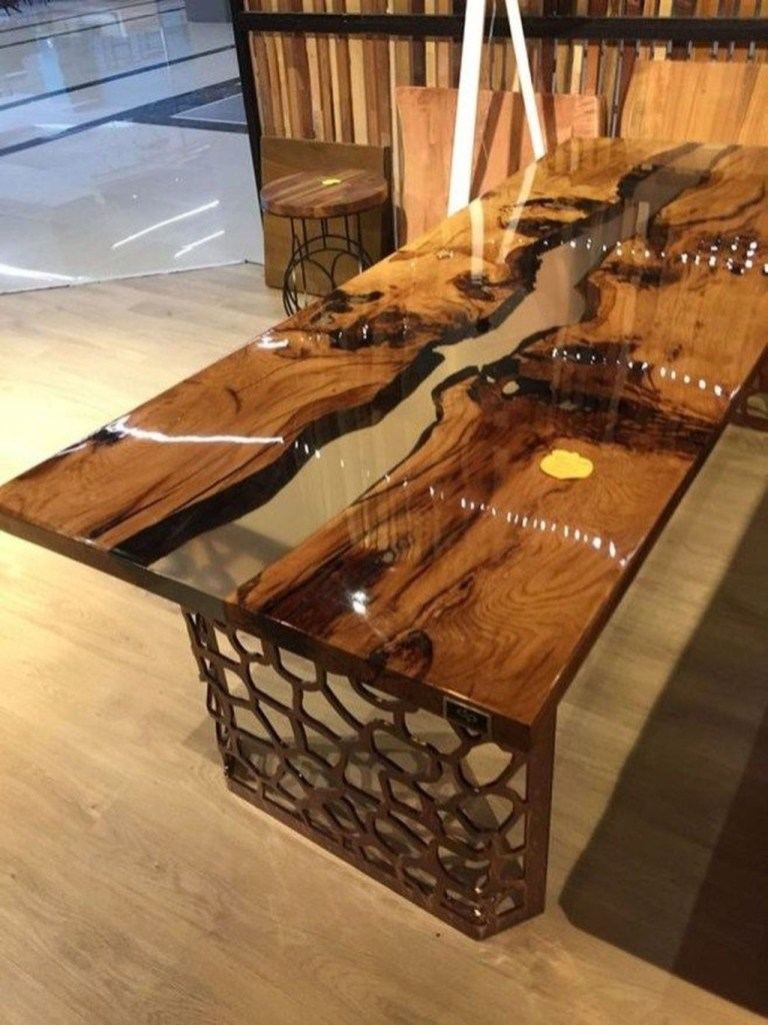Classy Resin Wood Table Ideas For Your Furniture29