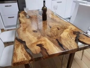 Classy Resin Wood Table Ideas For Your Furniture30