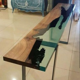 Classy Resin Wood Table Ideas For Your Furniture39