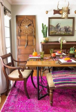 Unordinary Dining Room Design Ideas With Bohemian Style08