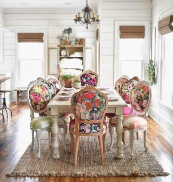 Unordinary Dining Room Design Ideas With Bohemian Style13