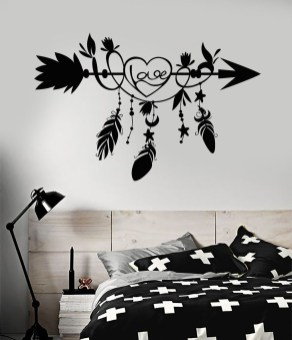 Vintage Bedroom Wall Decals Design Ideas To Try14