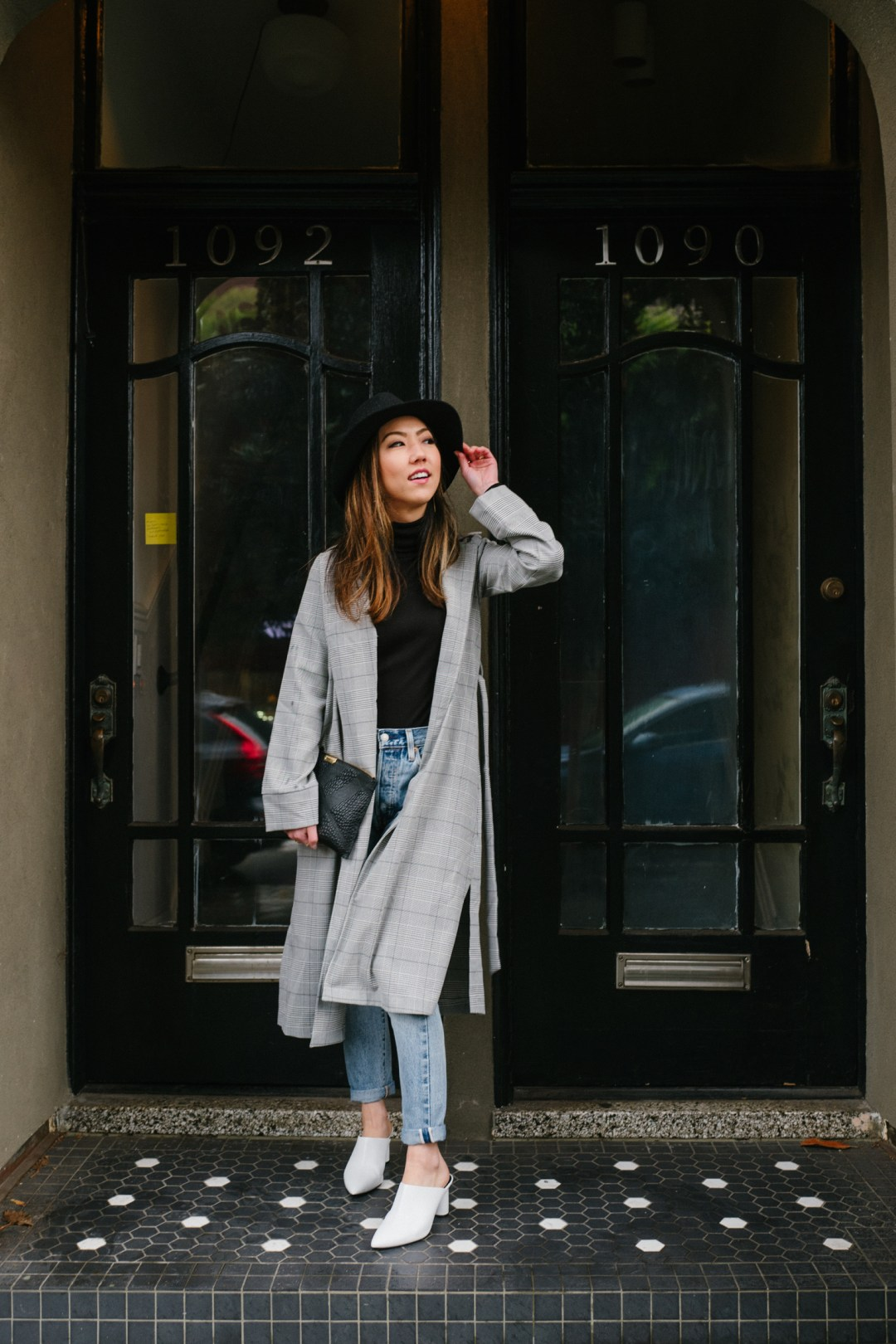 58509bfbacf0 If there's one trend worth buying this year, it's a plaid jacket or coat. I  was initially skeptical about this trend since I felt like plaid was too  preppy ...