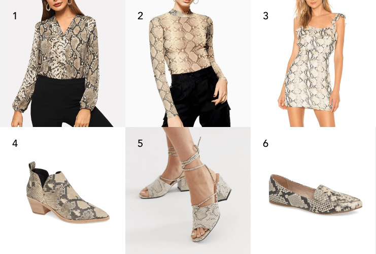 AFFORDABLE SNAKESKIN ITEMS THAT WILL MAKE YOUR OUTFIT POP
