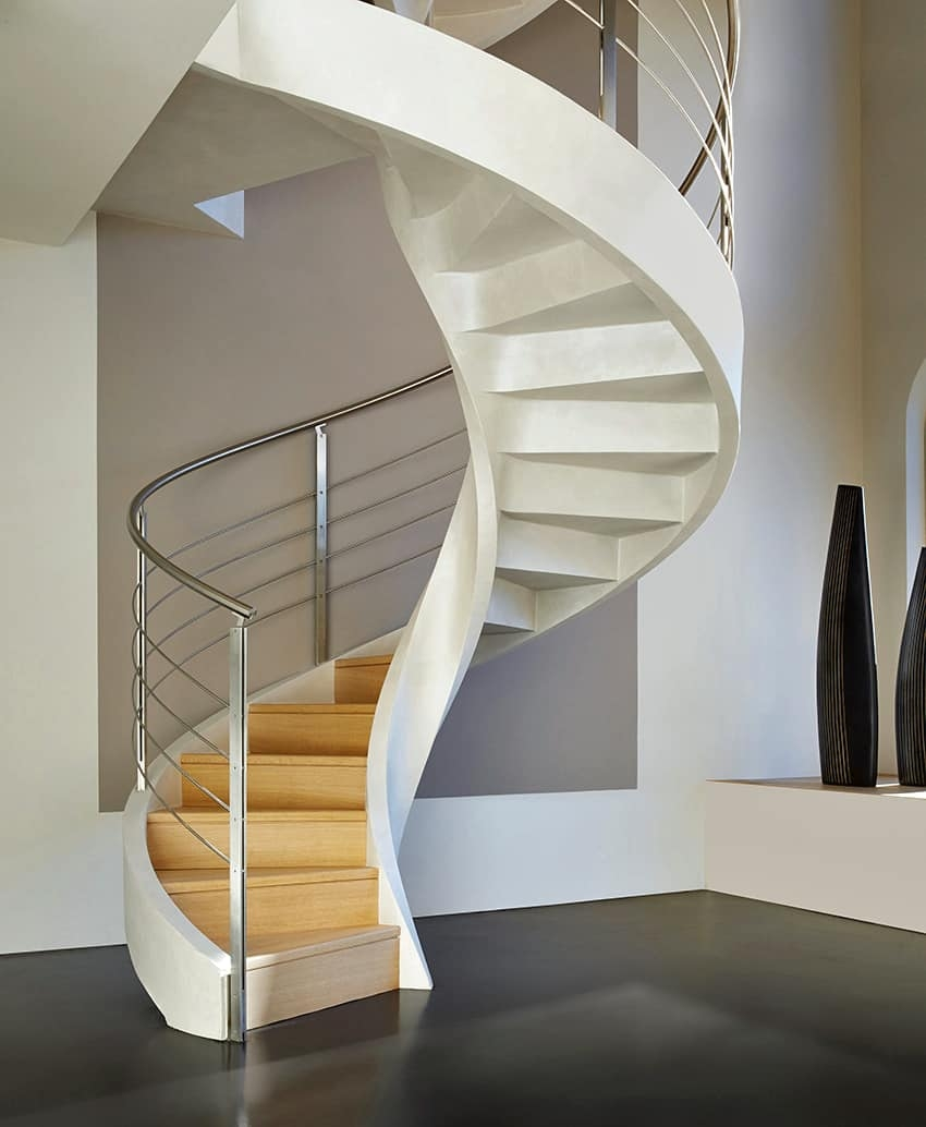 Spiral Staircase In Lightweight Concrete By Rizzi | Helical Staircase Structural Design