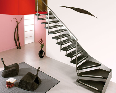 Cast staircase Swing with 90-degree turn