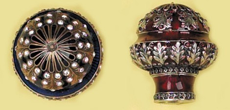 Edgar Berebi luxury architectural hardware - knob encrusted in crystals