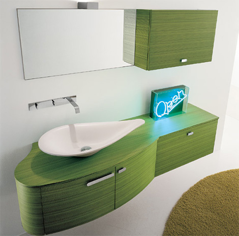 Novello vanity Trend in Green