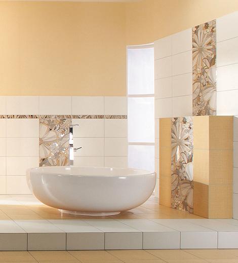 Rako tiles Botanica around the tub