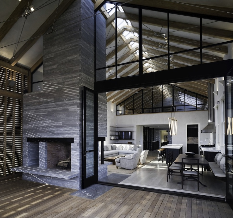Unusual Barn Style Home With Slatted Wood Siding Modern