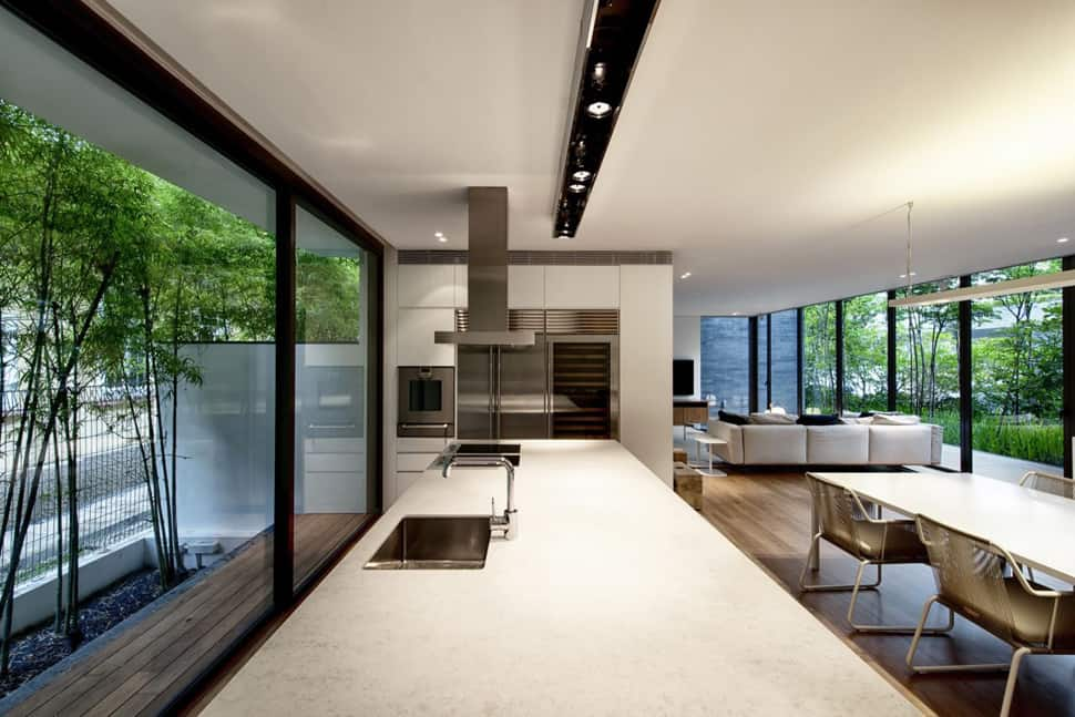 Home With Underground Courtyard And Rooftop Gardens
